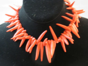 Synthetic Turquoise Spike Red Colour 41cm Strand