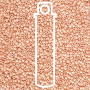 Matte Opaque Light Peach Ab (Db1522) Delica Myiuki 11/0 Seed Bead 7.2 Gramme Tube Approx 1400 Beads