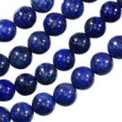 "Lapis Lazuli 8mm Round Gem Royal Blue Beads Strand 15"""