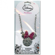 Disney Minnie Mouse Metal Charm Necklace with Rhine Stones