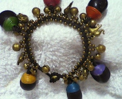 Brass Beads Hemp Bracelet with Natural Seed From Thailand