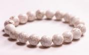 White Turkish Stone Bracelet 10mm- J149