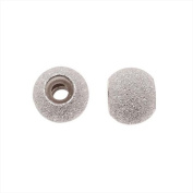 Sterling Silver Round Stardust Smart Bead Stoppers - Fits European Style Bangles - 7mm