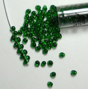 Green Transparent Miyuki 3.4mm Fringe Seed Bead Glass Tear Drops 25 Gramme Tube Approx 650 Beads