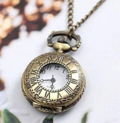 Costume Jewellery Fashion Antique Pocket Watch with Carved Designs