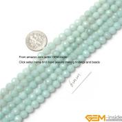 Gem-Inside Round Amazonite Strand Beads 38cm Jewellery Making Beads