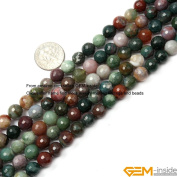 Gem-Inside 6mm 8mm 10mm 12mm 14mm 16mm Round Faceted Indian Agate Beads Strand 15 Inches