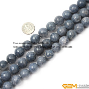 Gem-Inside Round Blue Coral Beads Strand 38cm