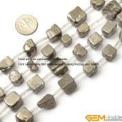 Gem-Inside Freefrom Silver Grey Pyrite Beads Strand 38cm