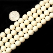 Gem-Inside 5.5mm 6mm 7mm 8mm 9mm Round Cream White Coral Beads Strand 15 Inches