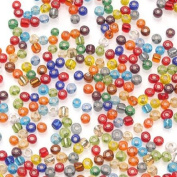 "Darice Glass ""E"" Beads, Multi Silver Lined, 1 Pound Pkg"