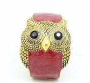 Vintage Bohemia Wide Owl Drip Crystal Decorated Woman Bracelet Bangle Wristband(Red) By U-Beauty