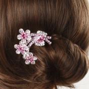 The bride's headdress diamond plate made to insert comb