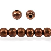 Raw Copper Plain Round Beads Approx. 3mm Approx. 8 inch