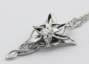 Vintage Arwen's Evenstar Necklace Lord of the Rings Pendant Alloy