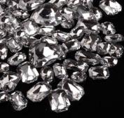 LOVEKITTY 30 Pcs Clear Cut back Mixed Sizes Rhinestone Gems