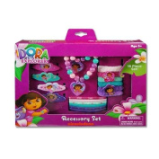 Dora The Explorer 18 Piece Accessory Box Set with Jewellery