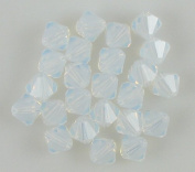 24 6mm. crystal bicone 5301 White Opal beads