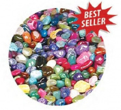 Gemstone Mix, Dyed and Natural Tumbled/Polished Gemstones 1 Pound