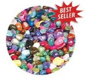 Gemstone Mix, Dyed and Natural Tumbled/Polished Gemstones 1 Pound