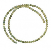 "LABRADORITE 4MM ROUND GEMSTONE BEADS 15"" ST - NATURAL not dyed"