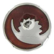 Eligo Jewellery 30mm Silver Plated Dark Brown Enamel Chunks for Eligo 30mm Chunk Bracelets