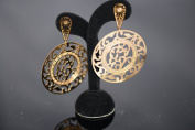 New Stainless Steel Gold Tone Fashion Jewellery Branch Desgin Dangle Earrings