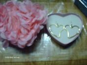 Avon CZ heart cut out hoop earrings in love in bloom box goldtone