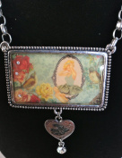 Vintage Princess with birds necklace with pendant