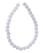 Tennessee Crafts 1417 Semi Precious White Agate Round 6mm Beads, 32-Piece