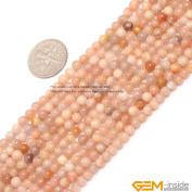 4mm 6mm 8mm 10mm 12mm 14mm Round Gemstone Sun Stone Beads Strand 38cm Jewellery Making Beads