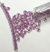 "Raspberry Lined Crystal Ab New Miyuki Berry Bead 2.5x4.5mm Seed Bead Glass 22 Gramme Tube Approx 500 Beads Bb264"" """