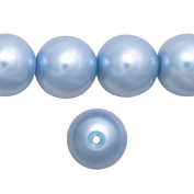 1 Strand Pastel Blue Glass Pearl Spacer Round Loose Beads Fit Necklace Bracelets Wholesale 10x10x10mm 85pcs GP0004-18