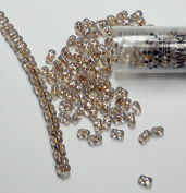 "Sparkle Beige Lined Crystal New Miyuki Berry Bead 2.5x4.5mm Seed Bead Glass 22 Gramme Tube Approx 500 Beads Bb283"" """
