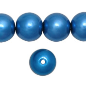 1 Strand Sapphira Blue Glass Pearl Spacer Round Loose Beads Fit Necklace Bracelets Wholesale 10x10x10mm 85pcs GP0004-19