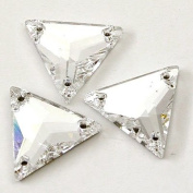 . 3270 Sew On FlatBack TRIANGLE Crystal 16mm by 4pcs