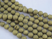 37pcs Druzy Agate 10mm 15''strand Gold Colour Finding Charms Necklace Bracelet Beads