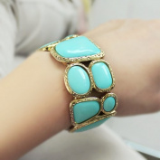 Wholesale Fashionable Alloy Rhinestone Gold Elastic Bracelet and Bangle bijouterie costume jewellery