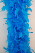80 Gramme Chandelle Feather Boa - TURQUOISE 2 Yards