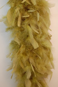 80 Gramme Chandelle Feather Boa - MOSS GREEN 2 Yards