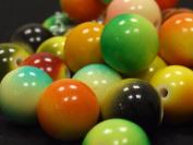 Tie Dye Billiard Beads - assorted lot of 10