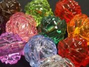 See Through Roses (beads) - assorted lot of 10