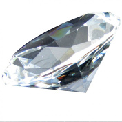 Giant 100 mm Clear Cut Glass Faceted Crystal Diamond