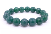 12mm Beautiful Crude Jade Beads Bracelet Bangle