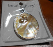Bead Gallery Pearl in Shell 40X50MM Pendant