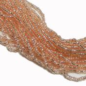Chanpagne Silver Lined Czech 8/0 Glass Seed Beads 1 Full 12 Strand Hank Preciosa Jablonex