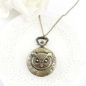 . Fashion Large Sized Owl Vintage Pendant Watch