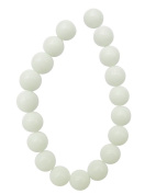 Tennessee Crafts 2487 Glass Opaque white Glass Beads Round Opaque White 12mm Beads, 18-Piece