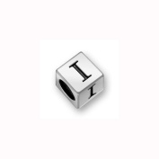 Charm Factory Pewter 7mm Alphabet Letter I Bead