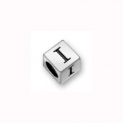 Charm Factory Pewter 7mm Alphabet Letter I Bead